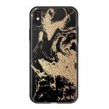 Чехол-накладка закаленное стекло Deppa Glass Case D-86507 для iPhone X (5.8) 2.0 мм Золотистый