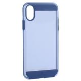 Чехол-накладка Black Rock Air Robust пластик прозрачный для iPhone XS силиконовый борт (800073) 1060ARR25 Синий
