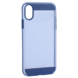 Чехол-накладка Black Rock Air Robust пластик прозрачный для iPhone X (5.8) силиконовый борт (800073) 1060ARR25 Синий