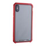Чехол-накладка Element Case (AL&Glass) для Apple iPhone X (5.8) G-Solace красный ободок