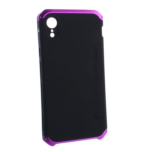Чехол-накладка Element Case (AL&Pl) для Apple iPhone XR (6.1) Solace Черный (фиолетовый ободок)