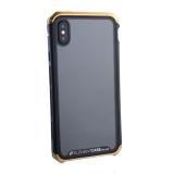 Чехол-накладка Element Case (AL&Glass) для Apple iPhone XS Max (6.5) G-Solace золотисто-черный ободок