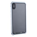 Чехол-накладка Element Case (AL & Glass) для Apple iPhone X (5.8) G-Solace серебристо-белый ободок