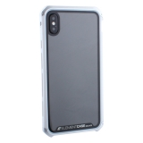 Чехол-накладка Element Case (AL & Glass) для Apple iPhone X (5.8) G-Solace серебристо-белый ободок