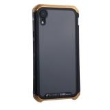 Чехол-накладка Element Case (AL&Glass) для Apple iPhone XR (6.1) G-Solace золотисто-черный ободок