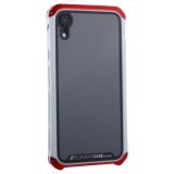 Чехол-накладка Element Case (AL&Glass) для Apple iPhone XR (6.1) G-Solace красно-серебристый ободок