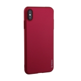 Чехол-накладка пластик Soft touch Deppa Air Case D-83365 для iPhone XS Max (6.5) 1мм Красный