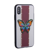 Накладка силиконовая TOTU Butterfly Love Series -019 для iPhone X (5.8) Бабочка Red