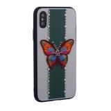 Накладка силиконовая TOTU Butterfly Love Series -019 для iPhone X (5.8) Бабочка Green