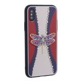 Накладка силиконовая TOTU Dancing Dragonfly Series -020 для iPhone X (5.8) Стрекоза Purple