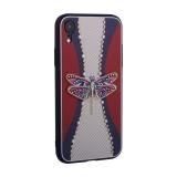 Накладка силиконовая TOTU Dancing Dragonfly Series -020 для iPhone XR (6.1) Стрекоза Purple