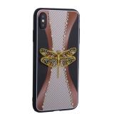 Накладка силиконовая TOTU Dancing Dragonfly Series -020 для iPhone XS Max (6.5) Стрекоза Gold