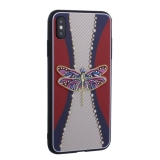 Накладка силиконовая TOTU Dancing Dragonfly Series -020 для iPhone XS Max (6.5) Стрекоза Purple