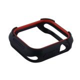 Чехол силиконовый COTEetCI PU+TPU case для Apple Watch Series 4 (CS7051-BR) 40 мм Черный (красный ободок)