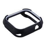 Чехол силиконовый COTEetCI PU+TPU case для Apple Watch Series 4 (CS7051-BW) 40 мм Черный (белый ободок)