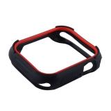 Чехол силиконовый COTEetCI PU+TPU case для Apple Watch Series 4 (CS7052-BR) 44 мм Черный (красный ободок)