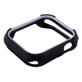 Чехол силиконовый COTEetCI PU+TPU case для Apple Watch Series 4 (CS7052-BW) 44 мм Черный (белый ободок)