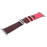 Ремешок кожаный COTEetCI W36 Fashoin Leather (WH5260-40-BRR) для Apple Watch 40 мм (short) Коричневый-Розовый