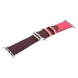 Ремешок кожаный COTEetCI W36 Fashoin Leather (WH5260-44-BRR) для Apple Watch 44 мм (short) Коричневый-Розовый