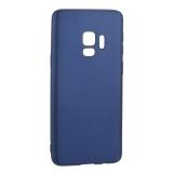 Чехол-накладка TPU Soft touch металлик Deppa Case Silk D-89002 для Samsung GALAXY S9 SM-G960F 1мм Синий металик