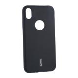 Чехол-накладка силиконовый Cherry матовый 0.4mm & пленка для iPhone XR (6.1) Черный