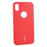 Чехол-накладка силиконовый Cherry матовый 0.4mm & пленка для iPhone XR (6.1) Красный
