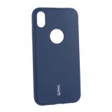 Чехол-накладка силиконовый Cherry матовый 0.4mm & пленка для iPhone XR (6.1) Синий