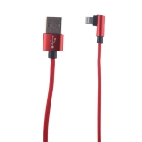 USB дата-кабель COTEetCI M47 L NYLON series Lightning cable QUICK CHARGE CS2161-RD (1.2 м) 2.4А Красный