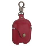 Чехол кожаный COTEetCI (AP7) Leather Case with Hook для AirPods с карабином CS8122-RD Красный