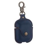 Чехол кожаный COTEetCI (AP7) Leather Case with Hook для AirPods с карабином CS8122-BL Синий