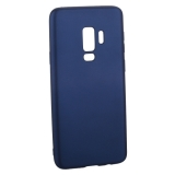Чехол-накладка TPU Soft touch металлик Deppa Case Silk D-89003 для Samsung GALAXY S9+ SM-G965F 1мм Синий металик
