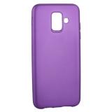 Чехол-накладка Deppa Case Silk TPU Soft touch D-89018 для Samsung GALAXY A6 SM-A600F (2018 г.) 1мм Фиолетовый металик