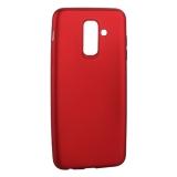 Чехол-накладка Deppa Case Silk TPU Soft touch D-89017 для Samsung GALAXY A6 Plus SM-A605F (2018 г.) 1мм Красный металик