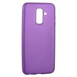 Чехол-накладка Deppa Case Silk TPU Soft touch D-89016 для Samsung GALAXY A6 Plus SM-A605F (2018 г.) 1мм Фиолетовый металик