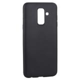 Чехол-накладка Deppa Case Silk TPU Soft touch D-89013 для Samsung GALAXY A6 Plus SM-A605F (2018 г.) 1мм Черный металик