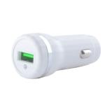 Разделитель автомобильный Hoco Z27A Staunch single port in-car QC3.0 Charger (USB: 3.6V-6.5V & 3.0A) Белый