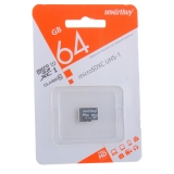 Карта памяти SmartBuy micro SDHC Card 64Gb Class10