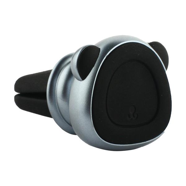 Автомобильный держатель Baseus Bear Magnetic car Bracket магнитный универсальный в решетку SUBR-ASG Серебристый