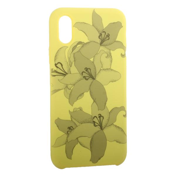 Чехол-накладка силиконовый Silicone Cover для iPhone X (5.8) Орхидея Желтый
