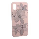 Чехол-накладка силиконовый Silicone Cover для iPhone X (5.8) Орхидея Светло-коралловый