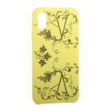 Чехол-накладка силиконовый Silicone Cover для iPhone X (5.8) Узор Желтый