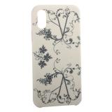 Чехол-накладка силиконовый Silicone Cover для iPhone XS Узор Бежевый