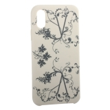 Чехол-накладка силиконовый Silicone Cover для iPhone X (5.8) Узор Бежевый