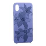 Чехол-накладка силиконовый Silicone Cover для iPhone XS Max (6.5) Орхидея Сиреневый