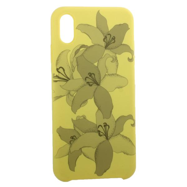 Чехол-накладка силиконовый Silicone Cover для iPhone XS Max (6.5) Орхидея Желтый