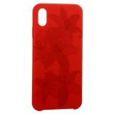 Чехол-накладка силиконовый Silicone Cover для iPhone XS Max (6.5) Орхидея Красный