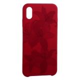 Чехол-накладка силиконовый Silicone Cover для iPhone XS Max (6.5) Орхидея Бордово-фиолетовый
