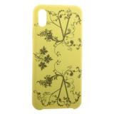 Чехол-накладка силиконовый Silicone Cover для iPhone XS Max (6.5) Узор Желтый