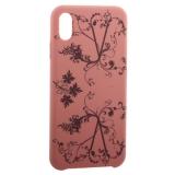 Чехол-накладка силиконовый Silicone Cover для iPhone XS Max (6.5) Узор Розовый