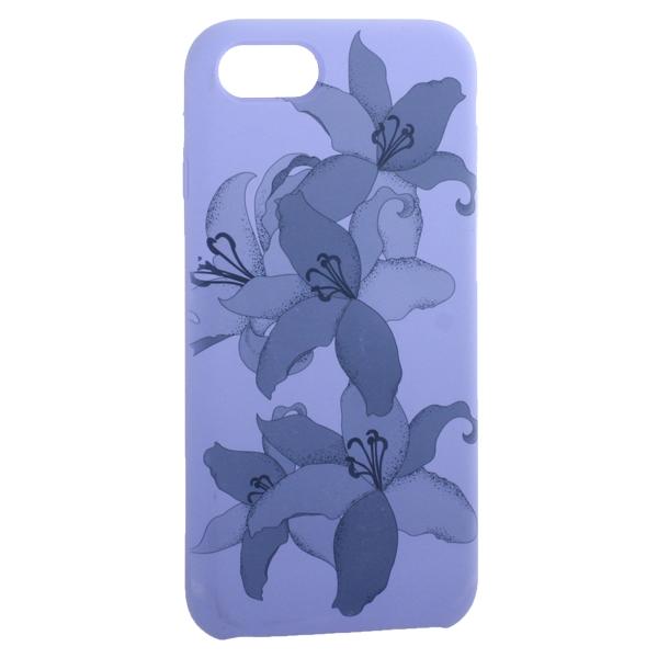 Чехол-накладка силиконовый Silicone Cover для iPhone 7 (4.7) Орхидея Сиреневый